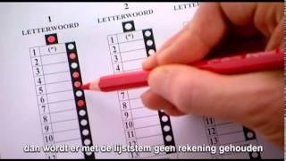 Hoe geldig stemmen met potlood en papier? (met ondertitels)