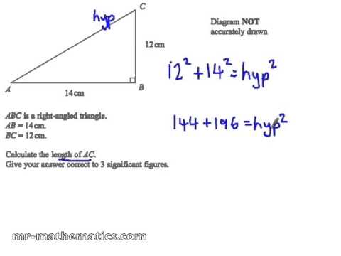 Pythagoras Theorem To Calculate A Hypotenuse Mathematics Revision Youtube