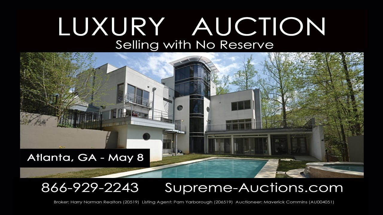 atlanta ga contemporary luxury home for sale absolute auction