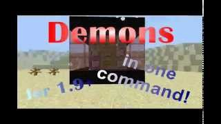 Minecraft 1.9 | Demon in only one command! |