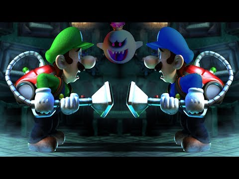 Luigi's Mansion: Dark Moon - Scarescraper All 25 Floors (Co-Op Gameplay)