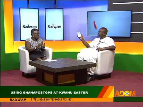 Using GhanaPostGPS At Kwahu Easter - Badwam on Adom TV (30-3-18)