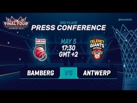 Brose Bamberg v Telenet Giants Antwerp - Press Conference - Basketball Champions League 2018