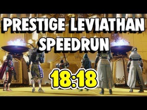 Prestige Leviathan World Record Speedrun [18:18]   Destiny 2 thumbnail