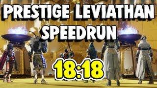 Prestige Leviathan World Record Speedrun [18:18] | Destiny 2
