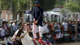 हिंदुस्तान का मशहूर घोड़ा tkki जो की फैजाबाद रेस में दौड़ते हुए शानदार माहौल बना दिया