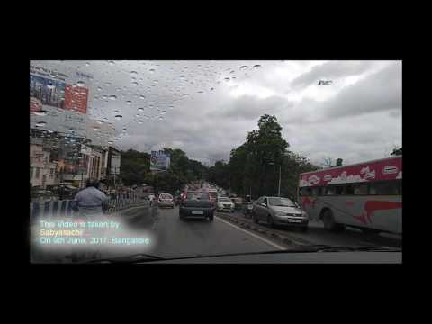Bangalore road on a rainy day