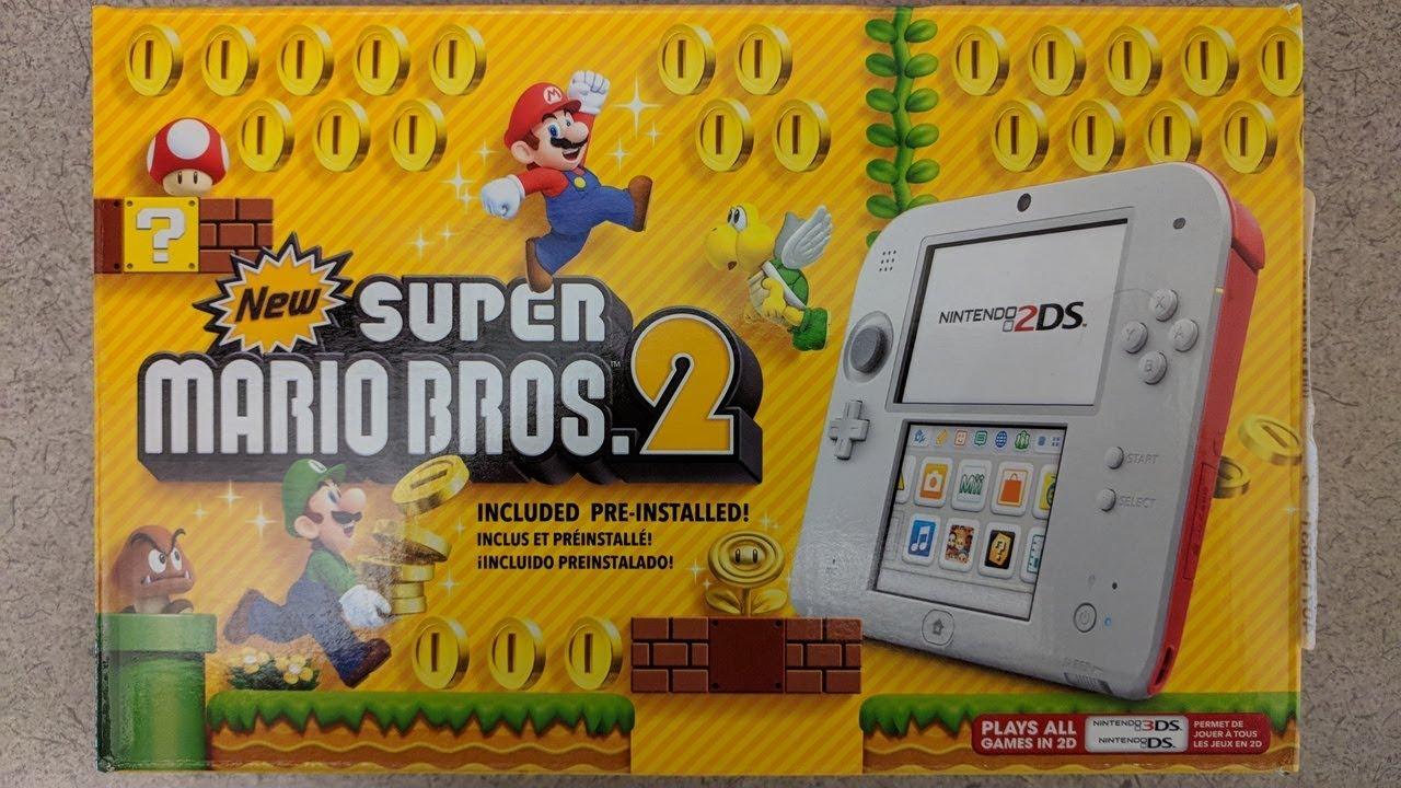 Nintendo 2ds Unboxing New Super Mario Bros 2 Bundle Youtube