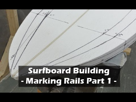 Marking Surfboard Rail Bands - Part 1: How to Build a Surfboard #12