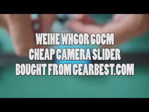 Weihe WH60R 60cm Cheap DSLR Camera Slider - Sample video & unbox