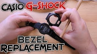 How to change the bezel on a Casio G-Shock Watch - DW6900 Bezel Replacement [Tutorial]