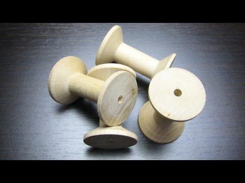 Раритетъ - катушки для ниток из дерева