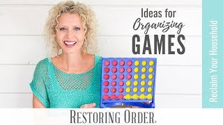 Ideas for Organizing Board Games #boardgame