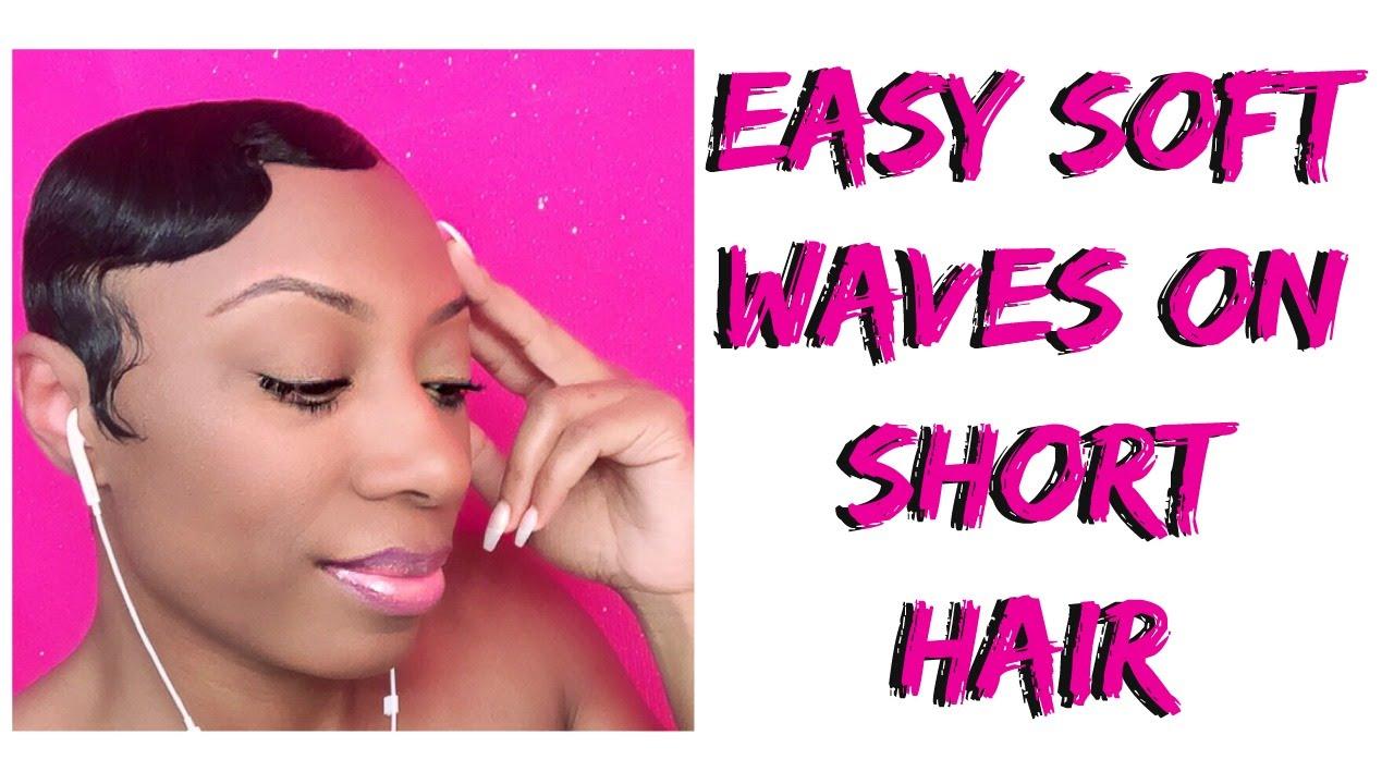 Easy Soft Finger Waves On Short Hair
