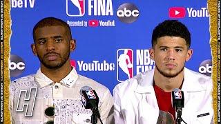 Chris Paul & Devin Booker Postgame Interview - Game 3  - Suns vs Bucks