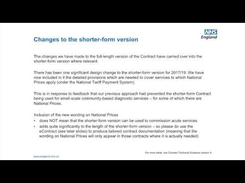 NHS Standard Contract - video 01