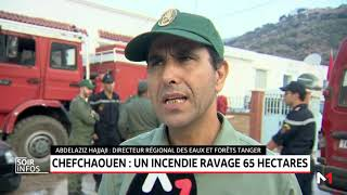 Feu de forêt à Chefchaouen: la lutte se poursuit