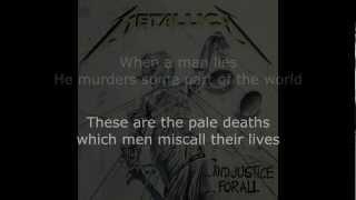 Download Metallica - To Live Is To Die Lyrics (HD)