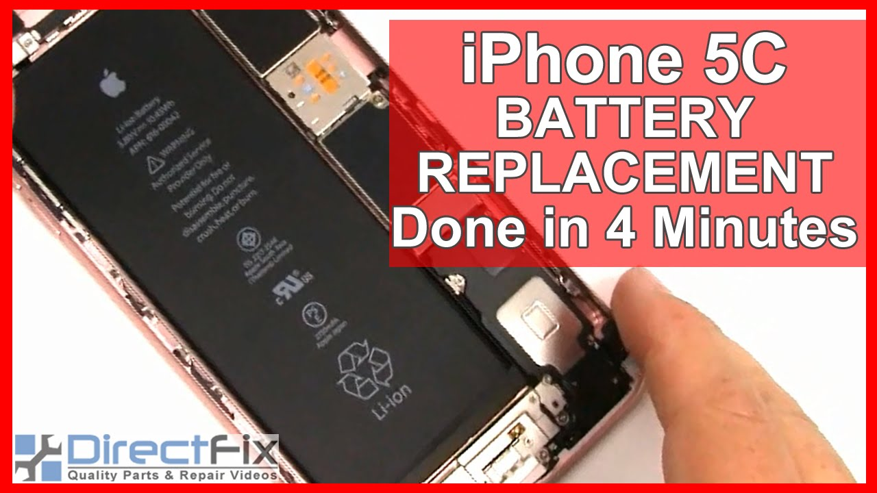 iphone 5c battery replacement how to iphone 5c battery replacement shown in 4 minutes 14636