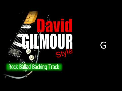 Rock Ballad David Gilmour Style Guitar Backing Track 67 Bpm Highest Quality