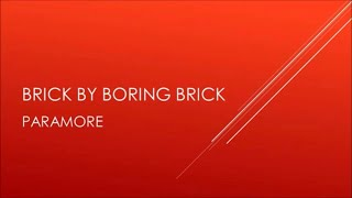 Gambar cover Paramore   Brick By Boring Brick (Acoustic)