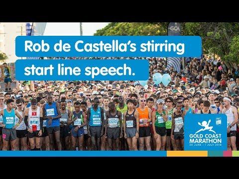 Rob de Castella's stirring start line speech - Gold Coast Marathon