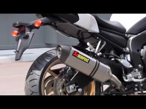 yamaha fz8 with akrapovi exhaust system youtube. Black Bedroom Furniture Sets. Home Design Ideas