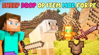 HOW TO DOWNLOAD SHEEP DROP OP ITEM MOD FOR MINECRAFT PE | ANDROID #Techno_Gamerz #BugWheel
