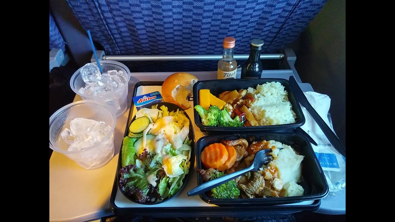 4k Uhd United Airlines 777 Food Service Pvg Ewr Free