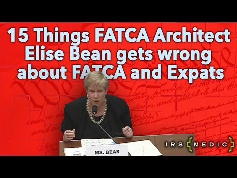 What FATCA Architect Elise Bean doesn't understand about FATCA