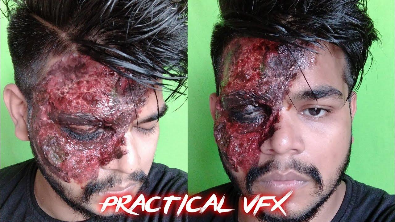 Face Burn Tutorial From Batman || Practical Vfx || Hindi