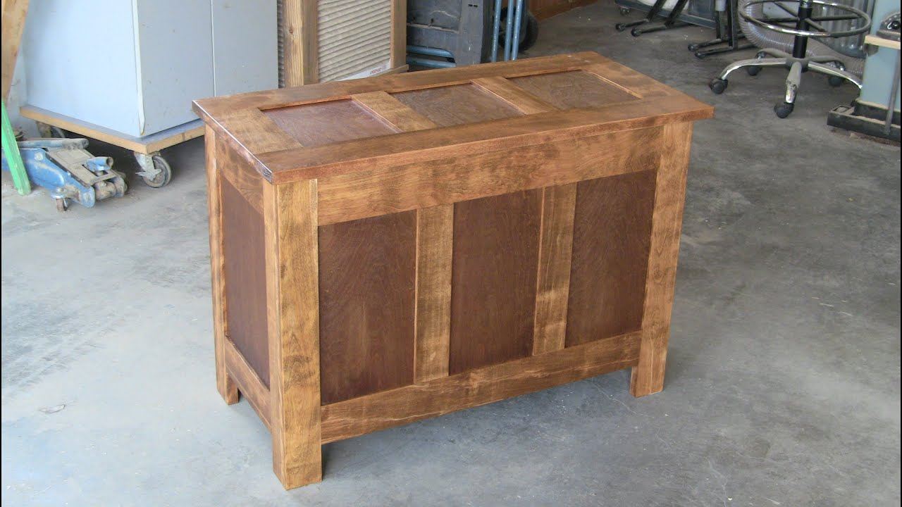 DIY - Simple Blanket Chest - YouTube