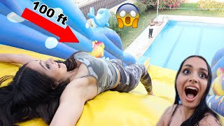 WE TURNED OUR BACKYARD INTO A WATER PARK!! *CRAZY*