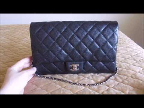 5370cd7ddab Chanel Classic Clutch with Chain CWC Review - YouTube