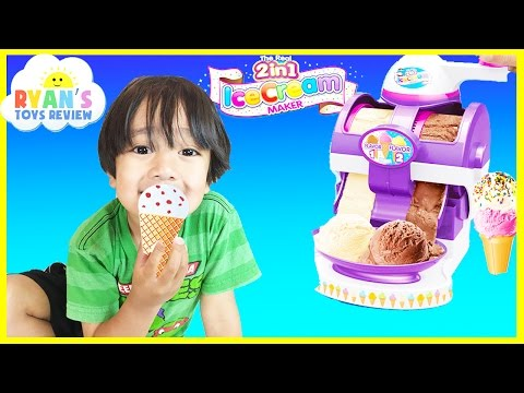 ICE CREAM MAKER Cra-Z-Art The Real 2 In 1 Ice Cream Machine Toy For Kids Ryan ToysReview