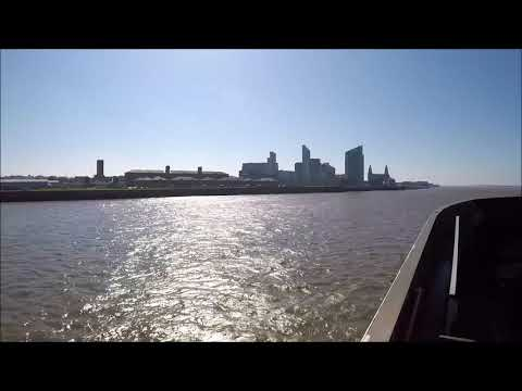 Isle Of Man Steam Packet Company Fast Craft Manannan Approaches Liverpool