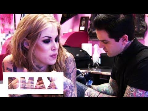 Kat Von D Gets A Tattoo Of Singer Johnette Napolitano | LA Ink