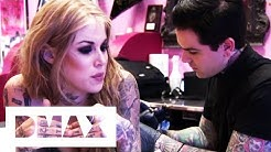 Kat Von D Gets A Tattoo Of Singer Johnette Napolitano | LA Ink