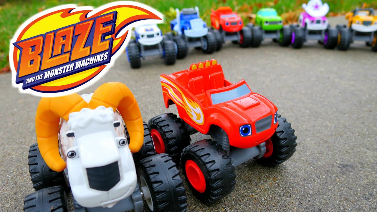 Blaze And The Monster Machines With The Bighorn Truck A Blaze Truck