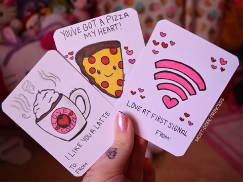 DIY Cheesy Valentines Day Cards YouTube – Homemade Valentine Card