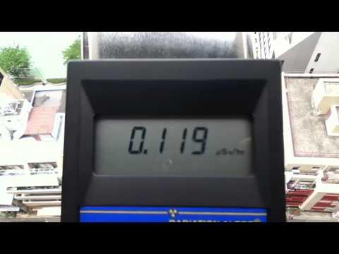 通学路で放射能を測ってみた2(地上50メートル)