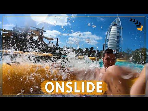 Burj Surj – Wild Wadi Waterpark Dubai | Bowl Raft Slide | POV