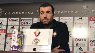 Diego Martínez. Previa Zaragoza-Osasuna