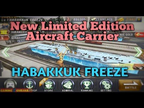 Warship Battle : New Aircraft Carrier HABAKKUK FREEZE - BOSS ATTACK PRISM TOWER & AKAGI