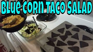 Cooking And Cussing  Blue Corn Taco Salad Ole