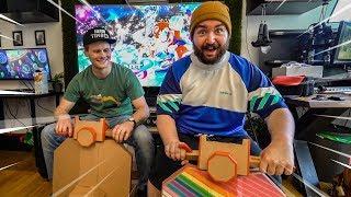 LEBENSGROßE Nintendo LABO PAPPE Motorräder!