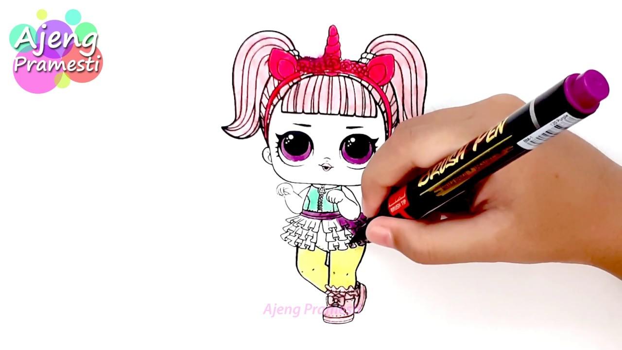 Belajar Mewarnai Gambar Boneka Lol Surprise 1 Youtube