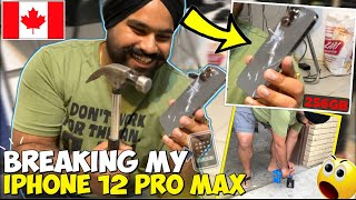 iPhone 12 Pro Max || DROP TEST 😱 | IPHONE UNDER THE CAR || It's not strong 👎🏻 as APPLE told everyone