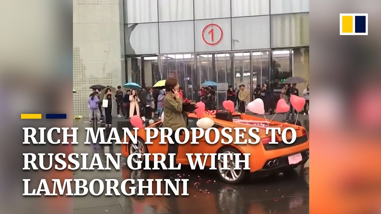 Rich Chinese man proposes with Lamborghini, rejected by Russian girl