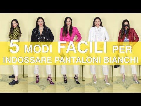 Idee OUTFIT con i PANTALONI BIANCHI: come si indossano e come si abbinano per tutti i fisici!